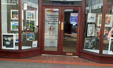Art Alert Display in Abbeygate, Nuneaton