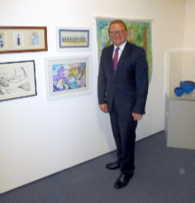 Marcus Jones MP attends the exhibition