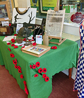 WW1 display in the Art Alert Gallery