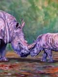 Rhino Kiss pastels on Hahn